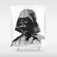 darth vader Shower Curtains featuring Darth Vader by Hey!Roger