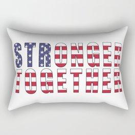 Stronger Together, Campaign Slogan Rectangular Pillow