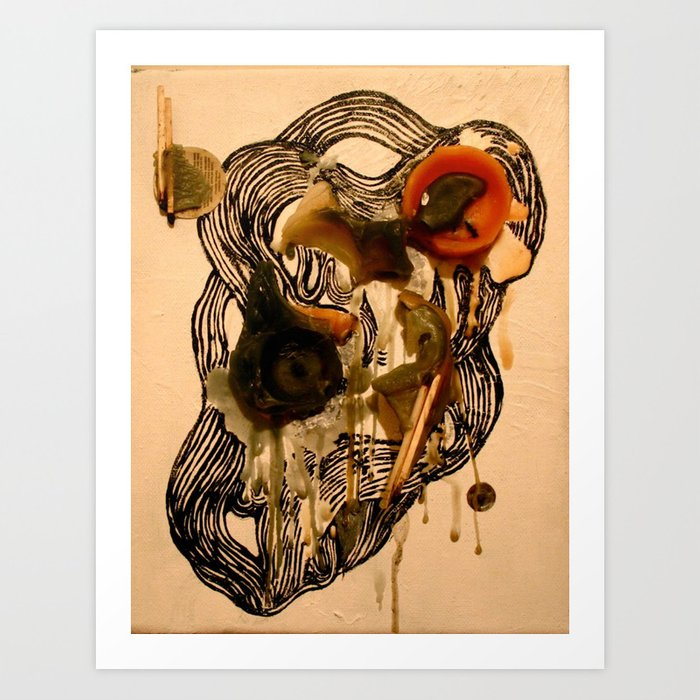 Recycled Candles  Art Print