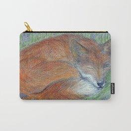 A Sleepy Fox  Carry-All Pouch