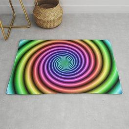 Deep Rainbow Spiral Rug