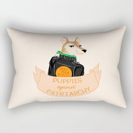 Puppies Against Patriarchy Rectangular Pillow