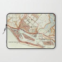 Vintage Map of Newport Beach California (1951) Laptop Sleeve