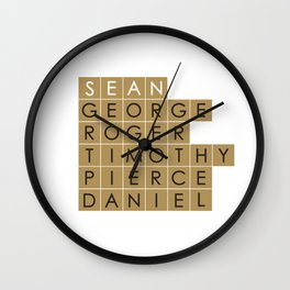 My favorite James Bond is... Sean Connery Wall Clock