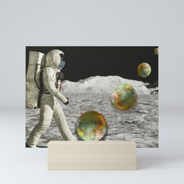 Moon Shot #collage Mini Art Print