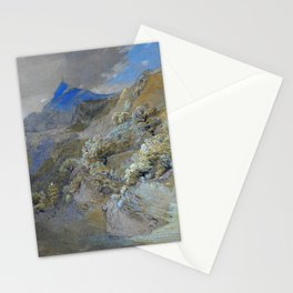 12,000pixel-500dpi - Samuel Palmer - Mount Siabod From Tyn-y-coed Near Capel Curig Stationery Cards