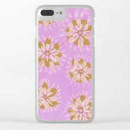 Cinnamon Petal Rose Clear iPhone Case