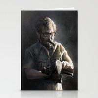 marc johns Stationery Cards featuring Marc Maron by Pavel Sokov