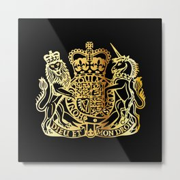 British Coat Of Arms Metal Print
