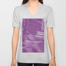 Purple Mystery Abstract Unisex V-Neck