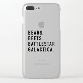 Bears Beets Battlestar Clear iPhone Case
