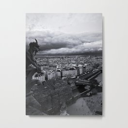 The Gargoyle Guarding Paris. Metal Print