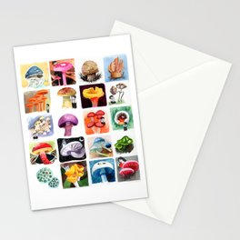 Mushrooms with Tony Stationery Cards