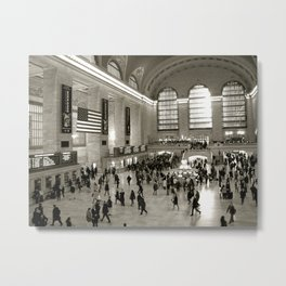 Waiting in New York for a Train Metal Print