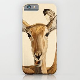 Impalas Watercolor iPhone Case