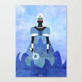 Iemanjá Aquarela Canvas Print