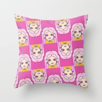 jem Throw Pillows featuring jem by guizmo04