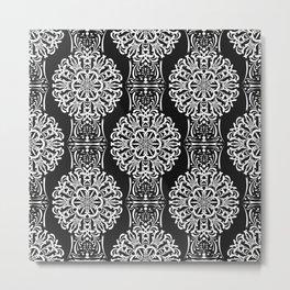 Black and white ornament .damask , damask ornament Metal Print