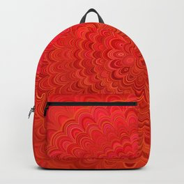 Fire Flower Mandala Backpack