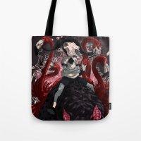 kieren walker Tote Bags featuring Walker by SPYKEEE