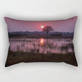 Botswana Africa Sunset over a Marsh Rectangular Pillow