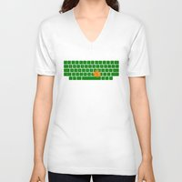 spaceship V-neck T-shirts featuring Spaceship by Dampa