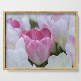 Tulips in White and Pink for a Happy Wedding! Serving Tray