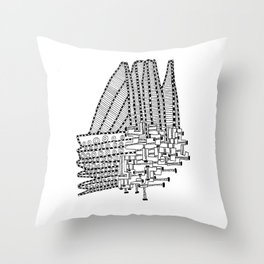Armada Abstract Throw Pillow
