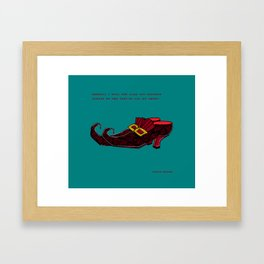 Rare and Precious Jewels on the Toes of my Shoes Framed Art Print