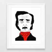 poe Framed Art Prints featuring Poe by Natália Damião