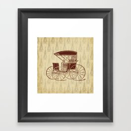 Vintage Horse Carriage in Paris Framed Art Print