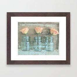 Rose Trio Framed Art Print