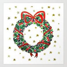Christmas Wreath II Art Print