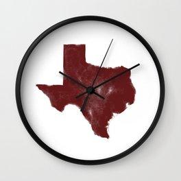 The Texas Are We - Shanna Wall Clock
