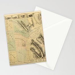 Map Of Council Bluffs 1858 Stationery Cards