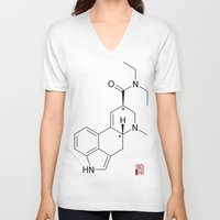 lsd V-neck T-shirts featuring LSD by unknown