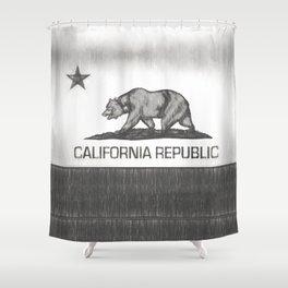 California Republic state flag Shower Curtain