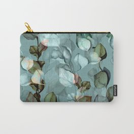 eucalyptus branches leave watercolour hand drawn illustration seamless floral vintage pattern Carry-All Pouch