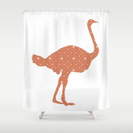 OSTRICH SILHOUETTE WITH PATTERN Shower Curtain