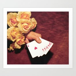 Poker Hand Art Print