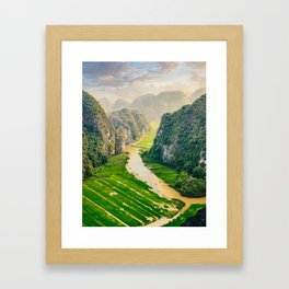 Vietnam Paddy Fields Framed Art Print