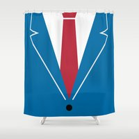 mad men Shower Curtains featuring Mad Men by Zhi-Yun