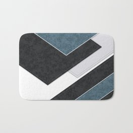 Black blue patchwork Bath Mat