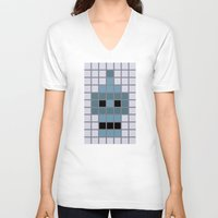 bender V-neck T-shirts featuring Bender Was Here by BC Arts