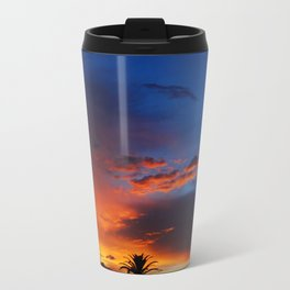 Under a Fiery Sky Metal Travel Mug