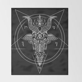 Leviathan Pentagram Throw Blanket