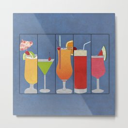 Fruit Drinks Metal Print