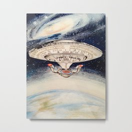 Star Trek USS Enterprise Illustration Metal Print