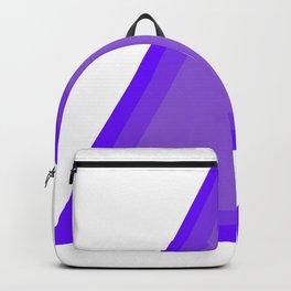 Triangles: Purple on Purple Backpack