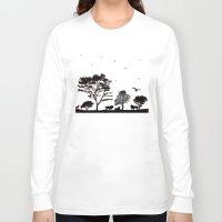 safari Long Sleeve T-shirts featuring Safari by Kaitlynn Marie